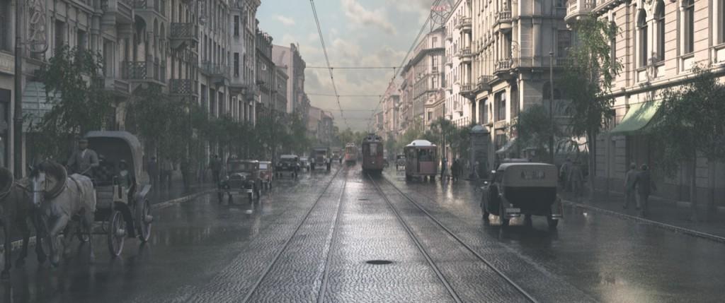 Ulica Marszałkowska –rok 1935.