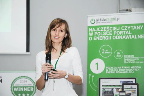 Olga Malinkiewicz nakonferencji Greentechcamp.pl 2014 / zdjecie: gramwzielone.pl.