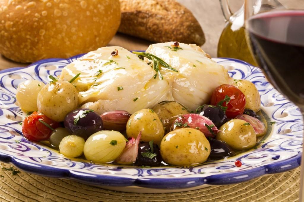 Bacalhau, czyli dorsz. Portugalskie danie narodowe.