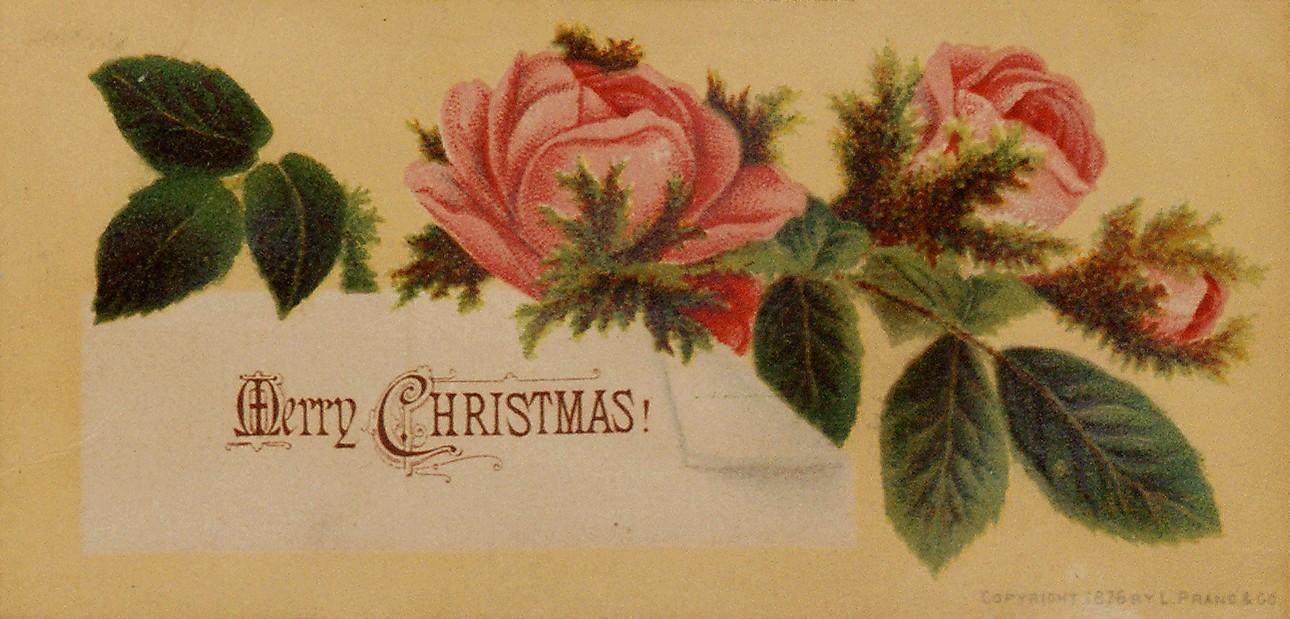 Pierwsza amerykańska kartka świąteczna Louisa Pranga.
