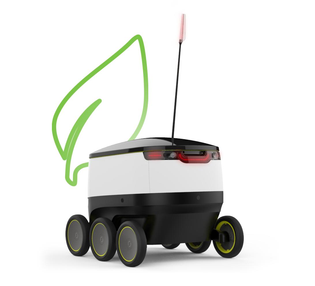 Roboty są przyjazne środowisku. Ich napęd jest zasilany elektrycznie. / Foto: Starship Technologies