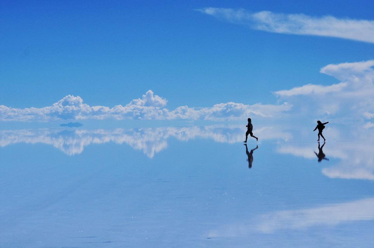 Spacer wchmurach ponajwiększych solnisku świata.