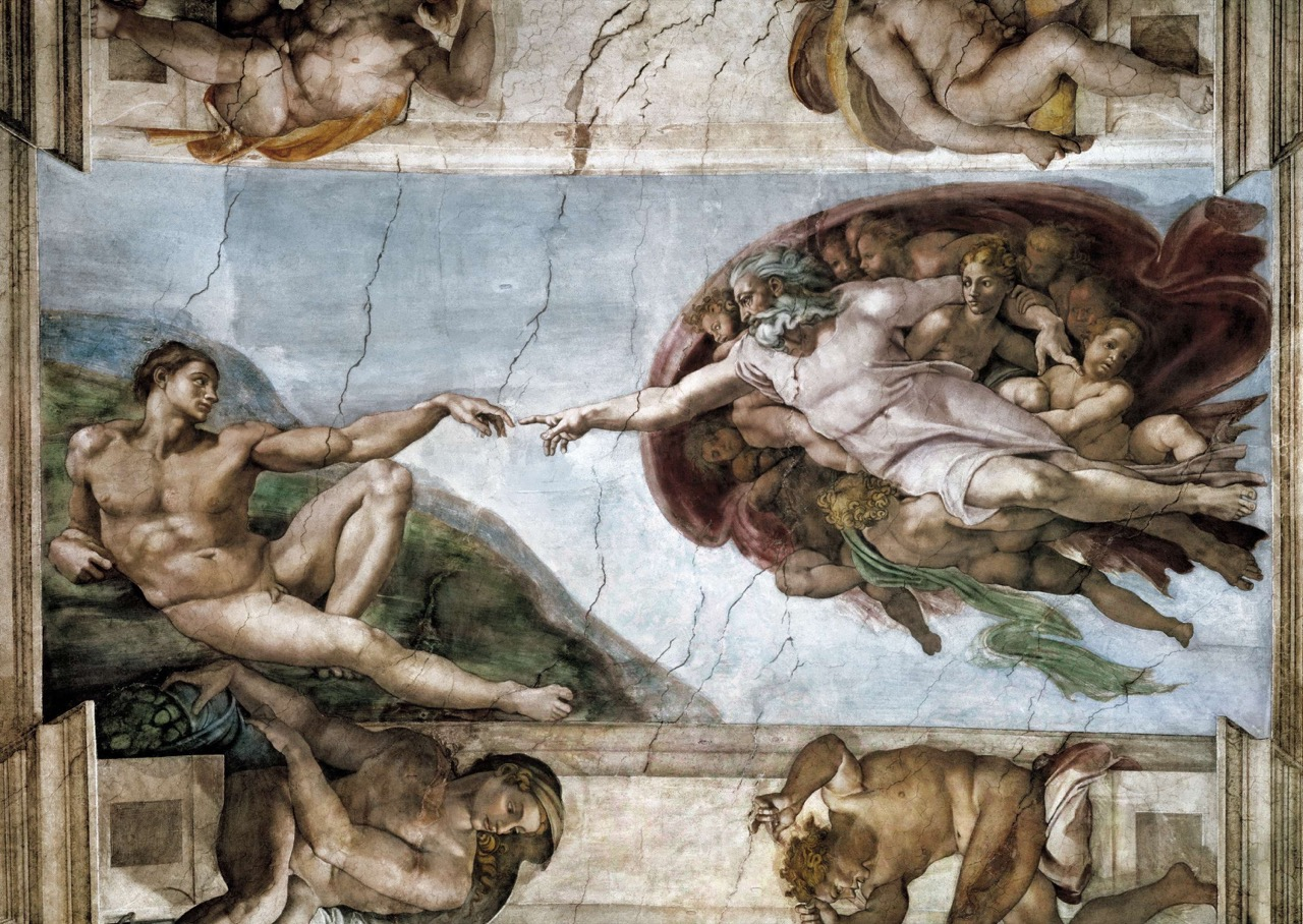"Fresk ""Stworzenie Adama"", Kaplica Sykstyńska Foto: Everett - Art / Shutterstock.com"